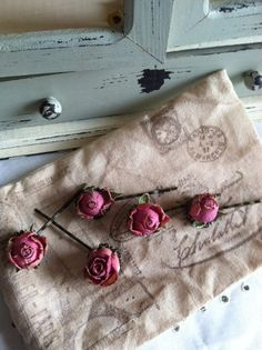 dried rose hairpins...so sweet