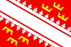 Flag of the Alsace region in France.