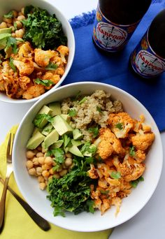 Spicy Cauliflower Power Bowl {vegan, gluten free} // pumpkin & peanut butter