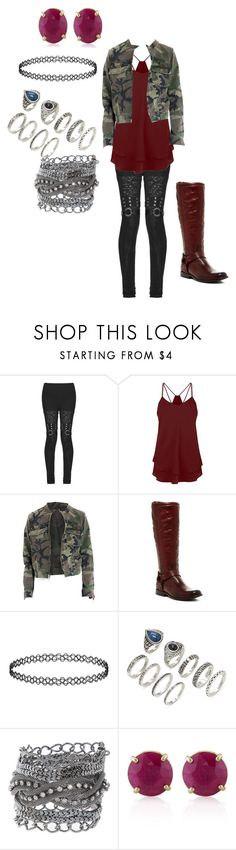 """Z Nation S1 Outfit"" by popey3 ❤ liked on Polyvore featuring Frye, Forever 21 and Belk & Co."