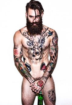 Ricki Hall... This photo would be hotter if it didn't look like he was peeing into that beer bottle.
