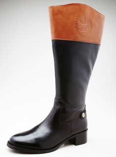 Riding Boots With Stamped Logo