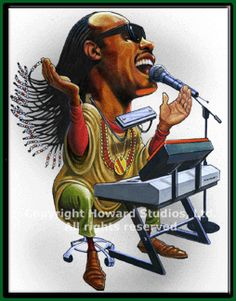 Famous Caricatures Gallery | stevie wonder caricature stevie wonder cartoon caricature limited ...