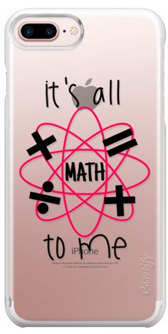 Casetify iPhone 7 Plus Case and iPhone 7 Cases. Other (General Category for the Collection) iPhone Covers - It's all Maths To Me by Ebi Emporium   Casetify