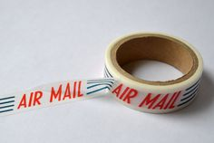 Vintage Air Mail Japanese Paper Washi Tape by StitchesandCrafts, $3.00