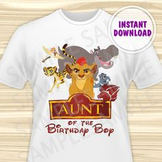 Lion Guard Iron On Transfer. Lion Guard Aunt Iron On Transfer. Lion Guard Birthday Shirt. Lion Guard Party. Kion Iron On. DIGITAL FILE by KidsPartyBoutique on Etsy https://www.etsy.com/listing/497036075/lion-guard-iron-on-transfer-lion-guard