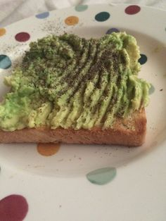 Afternoon snack of half a mashed avocado on toast #weightlossjourney
