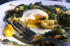 Recipe: Spinach with Eggs #Turkish