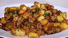 Lahodné mäsko, ktorému kg bravčové stehno 1 kg zemiakov, Pork Recipes, Gourmet Recipes, Dinner Recipes, Cooking Recipes, Hungarian Cuisine, Hungarian Recipes, Hungarian Food, Pork Dishes, Vegan Dishes