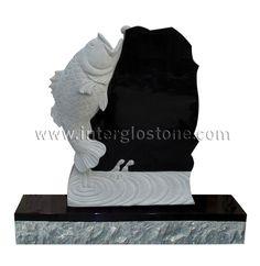 headstones for a fisherman | Fish Headstone - Kneeling Angel, Angel Headstones, Tombstones ...