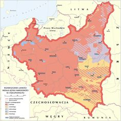 Poland Map, Geography Map, Old Maps, Pretty Photos, Historical Maps, Family History, The Rock, Planer, Infographics