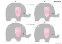 Pink Elephant Baby Shower Bunting