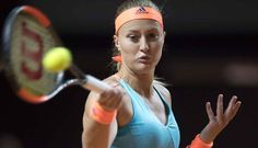 4/28/17 Stuttgart SFs for Kiki. Kristina Mladenovic tops Carla Suarez-Navarro and faces Maria Sharapova - 3 matches in since her return from a 15 month doping ban.