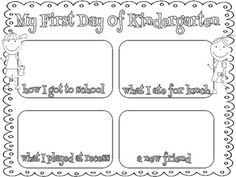 My First Day of Kindergarten Freebie...recreate and send home for each child on first day