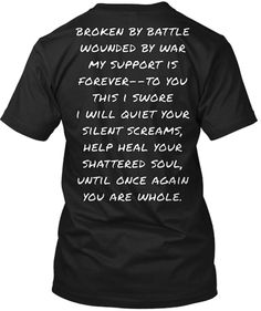 Battling Bare T-shirt. Wounded, military, wives, Broken in Battle, Wounded by war..