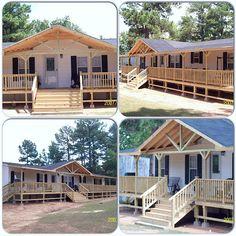 Top Deck Builder in East Texas / Longview Decks Mobile Home Deck, Mobile Home Addition, Mobile Home Exteriors, Mobile Home Renovations, Mobile Home Makeovers, Mobile Home Living, Remodeling Mobile Homes, Porches On Mobile Homes, Kitchen Makeovers