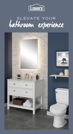 Transform your bathroom into a relaxing oasis with must-have fashionable fixtures from Lowe's. From bathtubs to vanities — you'll find everything you need to turn your bathroom into the ultimate at-home spa retreat. Shop the collection today. Single Sink Bathroom Vanity, Best Bathroom Vanities, Ensuite Bathrooms, Bath Tiles, Bathroom Cabinets, Bathroom Wall, Bathroom Furniture, Bathroom Modern, Master Bathroom
