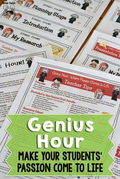 Genius Hour Fire up your students' passions with the Genius Hour! It's a guaranteed hit with your students. The post Genius Hour appeared first on School Ideas. Teaching Activities, Teaching Strategies, Teaching Tips, Morning Activities, Creative Teaching, Teaching Science, Stem Activities, Teaching Reading, Classroom Activities