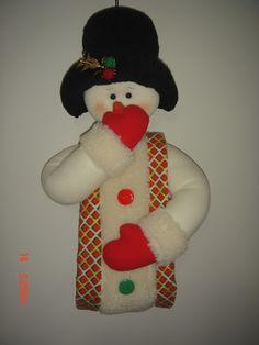 Christmas Stockings, Christmas Ornaments, Ideas Para, Snowman, Holiday Decor, Blog, Diy, Bambi, Holidays