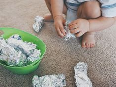 Foil wrapped toys Activity Ideas for Month-Olds — Moments with Miss # indoor activities for toddlers 18 months Activity Ideas for Month-Olds — Moments with Miss Activities For One Year Olds, Indoor Activities For Toddlers, Toddler Learning Activities, Sensory Activities, Infant Activities, Montessori Toddler, Montessori Toys, Family Activities, Toddler Play