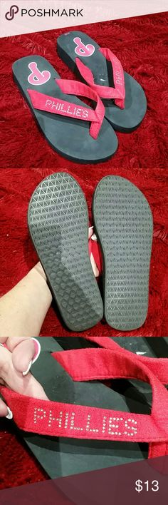 Phillies black flip flops In brand new condition.* Shoes Flats & Loafers
