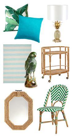 épinglé par ❃❀CM❁✿Tropical Home Decor / Banana Leaf Pillow / Parrot / Pineapple Lamp / Rattan