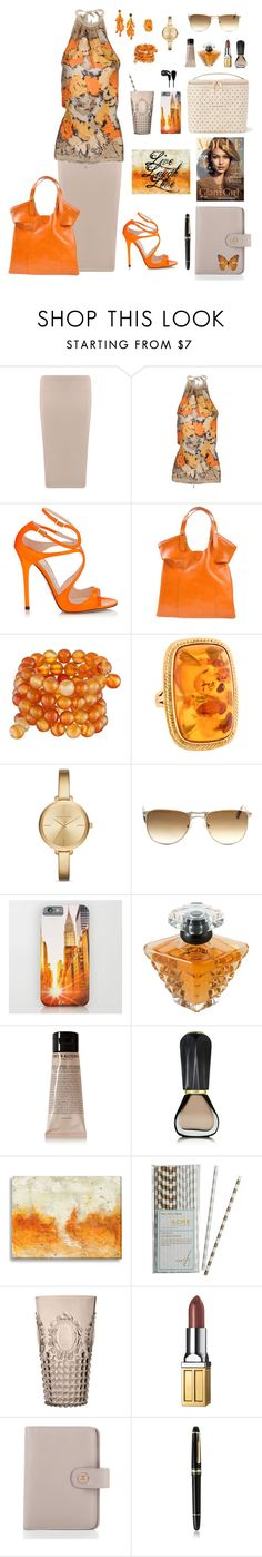 """""""Ambralina"""" by michela68 ❤ liked on Polyvore featuring Boohoo, Pinko, Orciani, Kenneth Jay Lane, Michael Kors, Persol, Lancôme, Grown Alchemist, Oribe and ACME Party Box Company"""