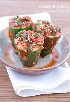 Cucumber Kimchi from beyond kimchee blog. This looks amazing and perfect for all the cucumbers I have from the garden! yum!