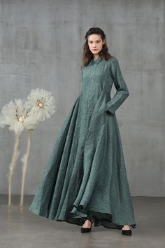 Sexy Wedding Dresses, Cheap Wedding Dress, Green Evening Dress, Evening Dresses, Teal Green Dress, Flattering Dresses, Mode Hijab, Muslim Fashion, Gothic Fashion