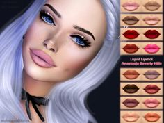 The Sims Resource: Liquid Lipstick Anastasia Beverly Hills by ANGISSI • Sims 4 Downloads
