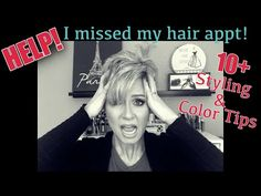 """For those of you that were not able to get your hair cut & colored before the salons were closed, here are some tips to help get you """"by"""" until your next sal. Pixie Cut Styles, Long Pixie Cuts, Short Hair Cuts, Short Hair Styles, Cut And Style, Cut And Color, Best Lip Liners, Grown Out Pixie, Color Wow"""