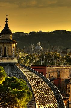 Wish I'd seen a sunset like this one on my trip to Rome. Photo info: Sunset, Rome, Italy