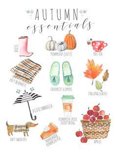 Autumn Illustration, Watercolor Illustration, Cute Umbrellas, Autumn Aesthetic, Fall Wallpaper, Autumn Activities, Hello Autumn, Autumn Inspiration, Happy Fall