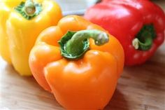 Bell peppers contain an impressive amount of vitamin C with up to as much as six times as oranges. Bell peppers are also packed with vitamin A and beta carotene which can help boost the immune system, improve vision, and help protect the eyes against cataracts. Bell peppers are also an excellent source of potassium, fiber, thiamine, beta carotene, folic acid, zeaxanthin, and lycopene and have been shown to help prevent blood clot formation and reduce the risk of heart attacks and strokes.