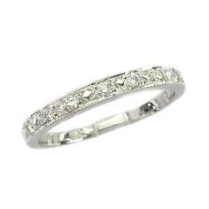 Simple and elegant diamond wedding band.