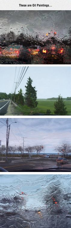Hard Edge Reality Oil Paintings - wish I could find out the artist - these are amazing works!