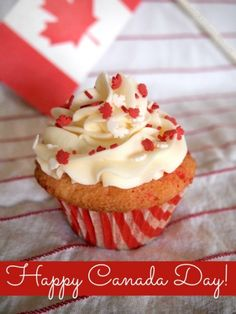 Gluten Free Confetti Cupcakes for Canada Day - Faithfully Gluten Free Gluten Free Baking, Gluten Free Recipes, Healthy Recipes, Canada Day Party, Confetti Cupcakes, Homemade Fondant, Gluten Free Cupcakes, Happy Canada Day, Valentines Day Food