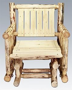 Montana Woodworks Montana Collection Single Seat Glider, Clear Exterior Finish - http://rustic-touch.com/montana-woodworks-montana-collection-single-seat-glider-clear-exterior-finish/