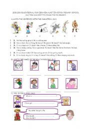 English worksheet: 2nd term 2nd exam 5th grades
