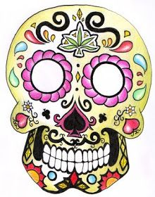 Cup of Sand: ✟Mexican Skull☀