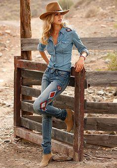 """Arizona 5-Pocket-Jeans »""""Rock 'n' Roll"""": Röhren-Form mit niedriger Leibhöhe«, Bild 9"""