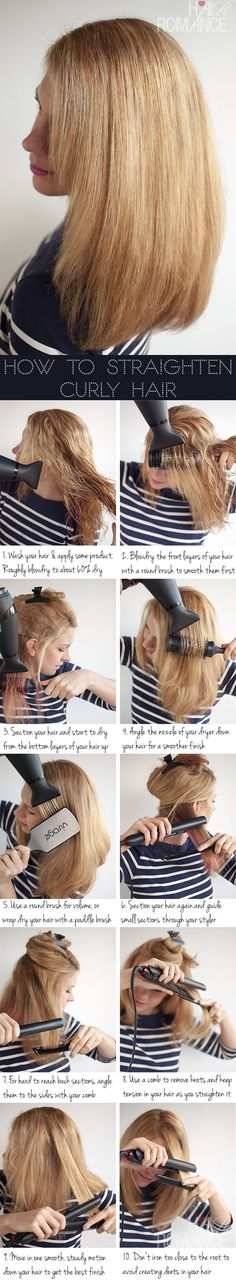 how to make curly hair with straightener