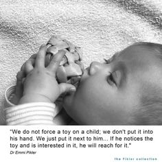 Emmi Pikler quote Infant Curriculum, Emergent Curriculum, Montessori Quotes, Practice Quotes, Infant Classroom, Teaching Quotes, Baby Learning, Early Childhood Education, Baby Play