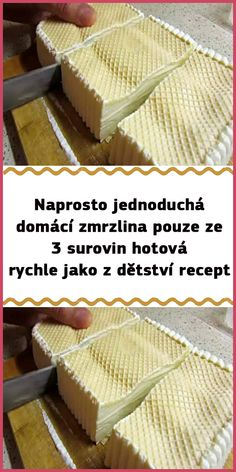 Slovak Recipes, Deserts, Food And Drink, Ice Cream, Bread, Homemade, Cooking, Cake, Sweet