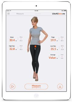 Like a Glove smart leggings measure your waist, hips, and thighs to help you find the perfect fit of jeans.