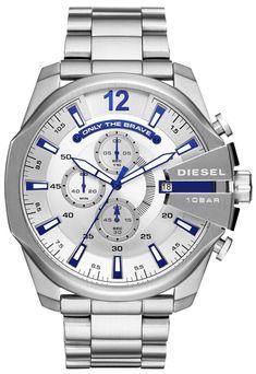 Diesel Chief - Men Wrist Watch on YOOX. The best online selection of Wrist Watches Diesel. Stainless Steel Plate, Stainless Steel Watch, Stainless Steel Bracelet, Diesel Watches For Men, Big Watches, Luxury Watches, Wrist Watches, Smartwatch, Seiko