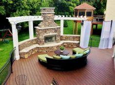 Hot Tub Pergola, Curved Pergola, Deck With Pergola, Backyard Pergola, Pergola Plans, Gazebo, Pergola Ideas, Cheap Pergola, Pergola Carport