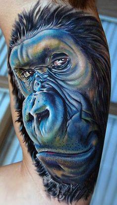 Tattoo Artist - Mike Devries - monkey tattoo   Phillip Michael's Interpretation: #tumblr #greatShape #buff #women #stunning #stunningly #beautiful #gorgeous #OMG #OMFG #awesome #wicked #cool #exotic #tat #tattoo #tattoos #ink #inked #goth #life #gothlife