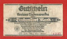 Germany Liebenwerda 100 mark 1922 banknote notgeld hundret mk