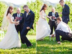 LOL love this - tiny bride, tall groom, best man brings in the reinforcements to get the job done - LOVE IT!!!!